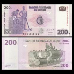 CONGO - BILLET de 200 Francs - 2013