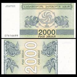 GEORGIE - Billet de 2000 Kuponi - Griffon - 1994