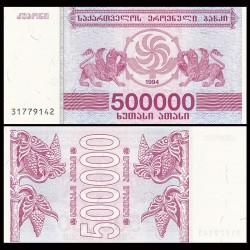 GEORGIE - Billet de 500000 Kuponi - Griffon - 1994