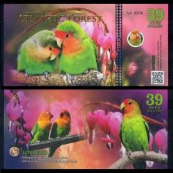 ATLANTIC FOREST - Billet de 39 Aves - Inséparable - 2018 0039 AVES