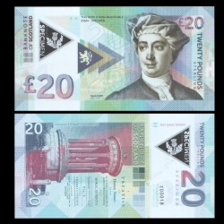 ECOSSE - Billet de 20 Pounds - David Hume - Polymer - 2018