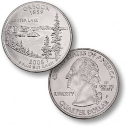 ETATS-UNIS / USA - PIECE de 25 Cents (Quarter States) - Orégon - 2005