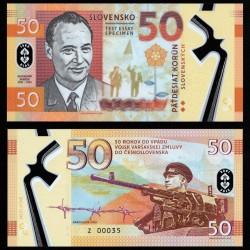 SLOVAQUIE - Billet de 50 Korun - Alexander Dubcek - POLYMER - 2018