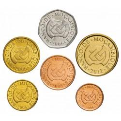 MOZAMBIQUE - SET / LOT de 6 PIÈCES - 1 5 10 20 50 Centavos 1 Metical - 2006