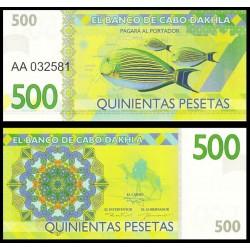 CABO DAHKLA - Billet de 500 PESETAS - Poissons Tropicaux - 2015