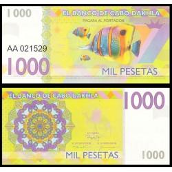 CABO DAHKLA - Billet de 1000 PESETAS - Poissons Tropicaux - 2015 2015-01000