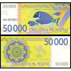 CABO DAHKLA - Billet de 50000 PESETAS - Poissons Tropicaux - 2015 2015-50000