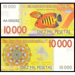 CABO DAHKLA - Billet de 10000 PESETAS - Poissons Tropicaux - 2015