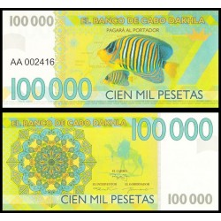 CABO DAHKLA - Billet de 100000 PESETAS - Poissons Tropicaux - 2015