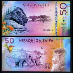 NATIONAL PARK / PARC NATIONAUX - SERENGETI - Billet de 50 DOLLARS - Lion - 2018