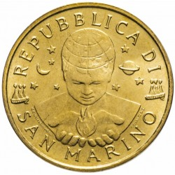 SAINT-MARIN - PIECE de 20 Lires - La solidarité - 2000