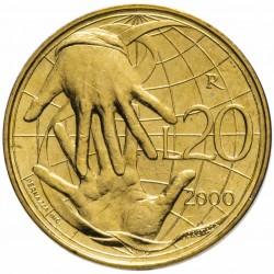 SAINT-MARIN - PIECE de 20 Lires - La solidarité - 2000 Km#400