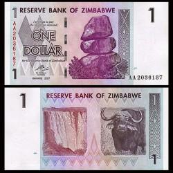 ZIMBABWE - Billet de 1 DOLLARS - 2007
