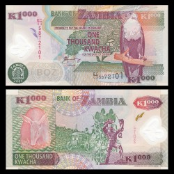 ZAMBIE - Billet de 1000 Kwacha - Polymer - 2004