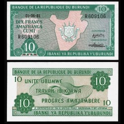 BURUNDI - Billet de 10 Francs - 01.06.1981