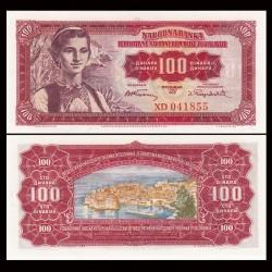 YOUGOSLAVIE - Billet de 100 Dinara - 01.05.1955 P69a