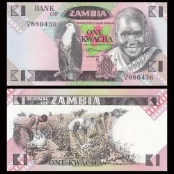 ZAMBIE - Billet de 1 Kwacha - 1988