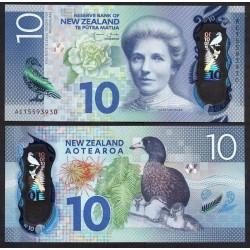 NOUVELLE ZELANDE - Billet de 10 Dollars - Kate Sheppard - Polymer - 2015