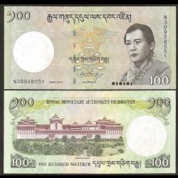 BHOUTAN - Billet de 100 Ngultrum - 2015