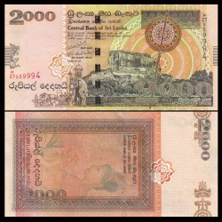 SRI LANKA - Billet de 2000 Roupies - Sigiriya rock - 2006 P121b
