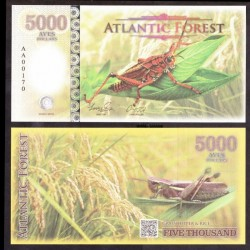ATLANTIC FOREST - Billet de 5000 Aves - Sauterelle - 2016