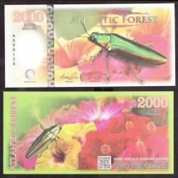 ATLANTIC FOREST - Billet de 2000 Aves - Buprestidae - 2016 2000 AVES