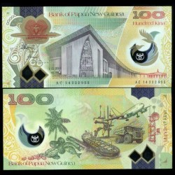 PAPOUASIE NOUVELLE GUINEE - Billet de 100 Kina - Polymer - 2014