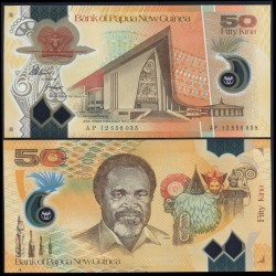 PAPOUASIE NOUVELLE GUINEE - Billet de 50 Kina - Polymer - 2012