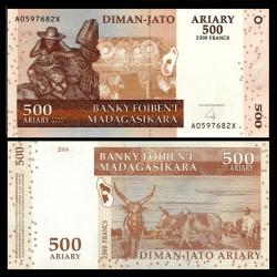 MADAGASCAR - Billet de 500 Ariary - 2500 Francs - 2004 P88b