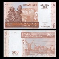 MADAGASCAR - Billet de 500 Ariary / 2500 Francs - 2004 P88c