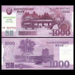 COREE DU NORD - Billet de 1000 Won - 70 ans de l'indépendance - 2018