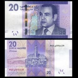 MAROC - Billet de 20 DIRHAMS - Roi Mohammed VI - 2013