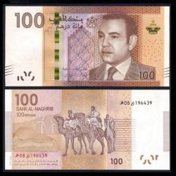 MAROC - Billet de 100 DIRHAMS - Roi Mohammed VI - 2013