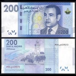 MAROC - Billet de 200 DIRHAMS - Roi Mohammed VI - 2013