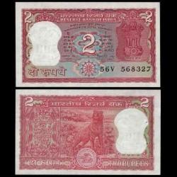 INDE - Billet de 2 Roupies - Tigre du Bengale - 1984 / 1985