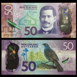 NOUVELLE ZELANDE - Billet de 50 Dollars - Oiseau Glaucope cendré - Polymer - 2016 P194a