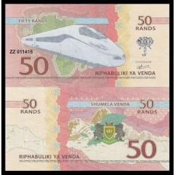 VENDA / AFRIQUE DU SUD - Billet de 50 RANDS - 2015 - TRAIN Type TGV