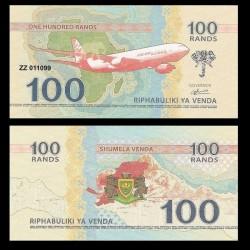 VENDA / AFRIQUE DU SUD - Billet de 100 RANDS - 2015 - AVION AIRBUS A330
