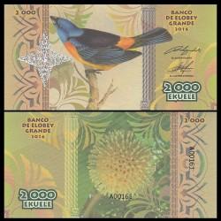 ELOBEY GRANDE - Billet de 2000 Ekuele - Série Oiseaux - 2016