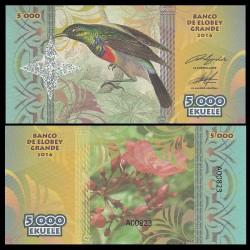 ELOBEY GRANDE - Billet de 5000 Ekuele - Série Oiseaux - 2016