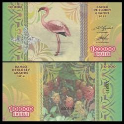 ELOBEY GRANDE - Billet de 10000 Ekuele - Série Oiseaux - 2016