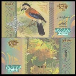ELOBEY GRANDE - Billet de 50000 Ekuele - Série Oiseaux - 2016 050000k
