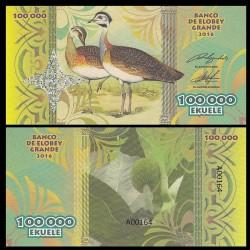 ELOBEY GRANDE - Billet de 100000 Ekuele - Série Oiseaux - 2016 100000k