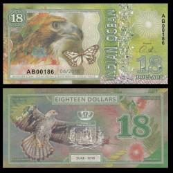 OCEAN INDIEN / INDIAN OCEAN - Billet de 18 DOLLARS - Aigle - 2018