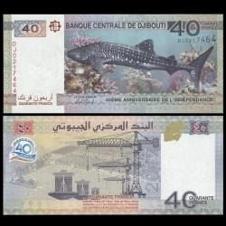DJIBOUTI - Billet de 40 Francs - Requin - 2017 P46a