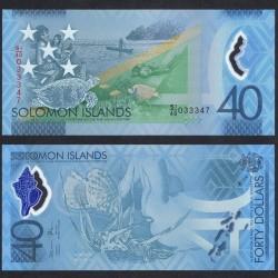 SALOMON (ILES) - Billet de 40 DOLLARS - POLYMER - 40 Ans de l'indépendance - 2018 P37a