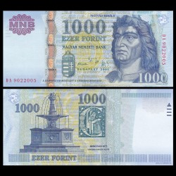 HONGRIE - Billet de 1000 Forint - Le roi Matthias - 2005