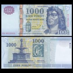 HONGRIE - Billet de 1000 Forint - Le roi Matthias - 2005 P195a