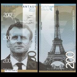 BANK OF FANTASY - BILLET DE 200 EURO - SERIE HOMMES POLITIQUES - EMMANUEL MACRON - 2018