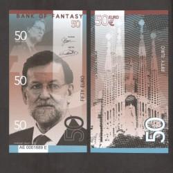 BANK OF FANTASY - BILLET DE 50 EURO - SERIE HOMMES POLITIQUES - MARIANO RAJOY - 2018